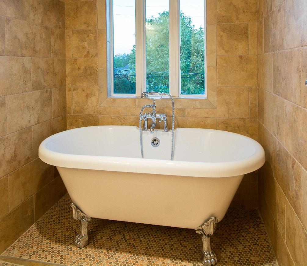 DRA590-901/DRA591-901 | 59″ dual acrylic tub with paw feet – Canyon Bath