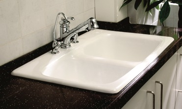 CBS-9001 | 32″ cast iron kitchen sink with double bowl ...